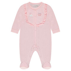 ba6051be1f056 Dors-bien en jersey imprimé pois all-over avec volants