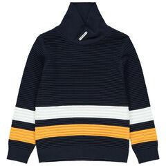 Pull en tricot ottoman avec col croisé