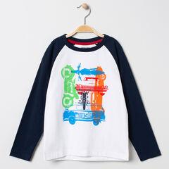 T-shirt manches longues bicolore à véhicules printés , Orchestra