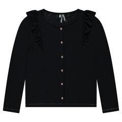 Gilet en tricot avec volants
