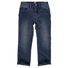 Junior - Jeans droit et surpiqûres