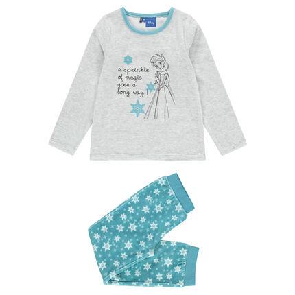 4b326af337d0b Pyjama long en velours print Disney La Reine des Neiges