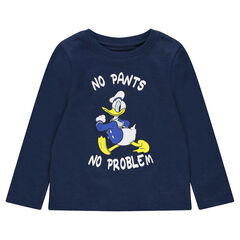 Tee-shirt manches longues en jersey print Donald Duck ©Disney