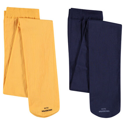 Lot de 2 collants fins unis