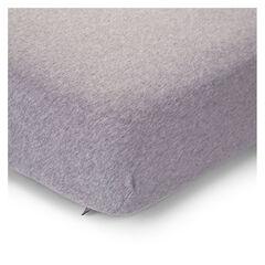 Drap housse jersey gris - 75x95 cm