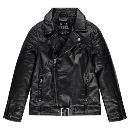 Junior - Perfecto effet cuir avec poches zippées