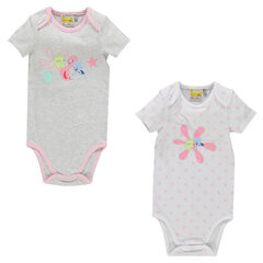 Lot de 2 bodies manches courtes Sammy & Co