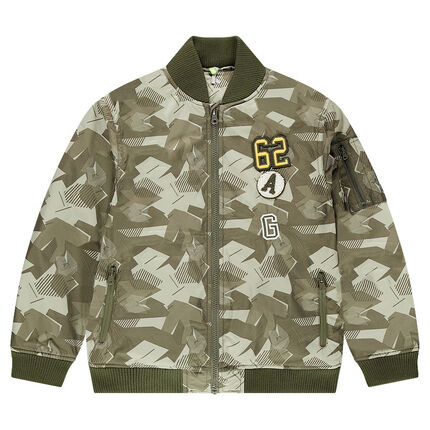 Bombers motif style army doublé sherpa