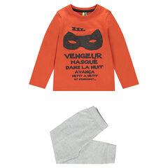 Pyjama en jersey avec masque et message printés