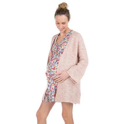 Gilet de grossesse en maille épaisse