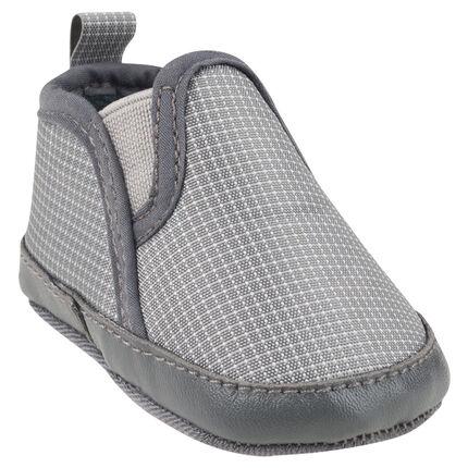 Baskets basses en tissu à carreaux