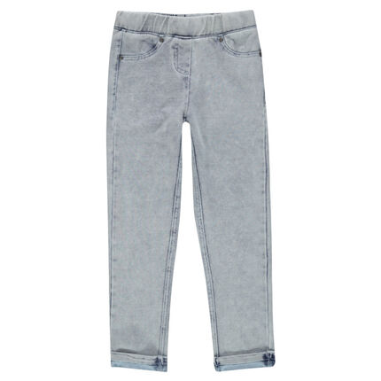 Junior - Jegging en molleton denim