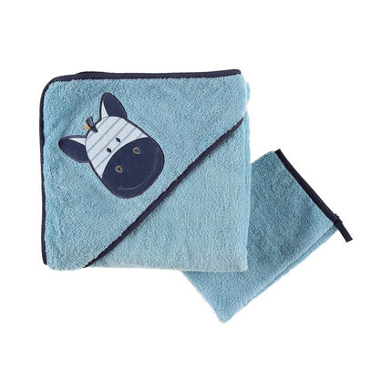 Set de bain Achille & Zebrito - Bleu