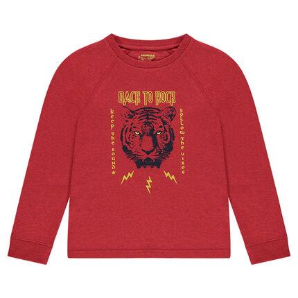 Junior - Tee-shirt manches longues en jersey print tigre