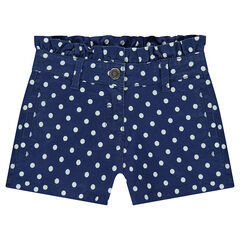 Short en twill avec imprimé fantaisie all-over
