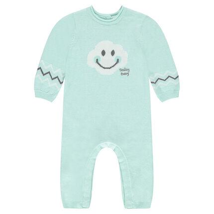 combinaison en tricot avec motif smiley baby en jacquard. Black Bedroom Furniture Sets. Home Design Ideas