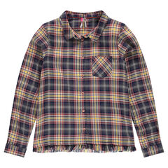 Junior - Chemise à carreaux avec franges fantaisie