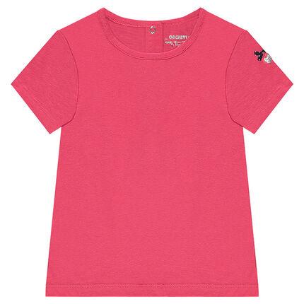 Tee-shirt manches courtes avec coeur brodé