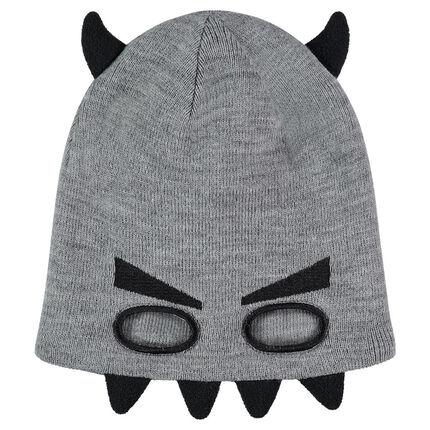 Bonnet en tricot effet masque avec détails en relief