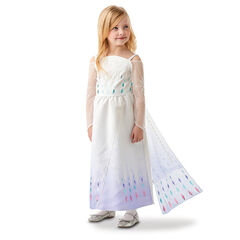 Déguisement Robe d'Elsa Reine des neiges à motifs taille 7-8 ans