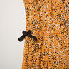 Junior - Robe manches courtes imprimée pois all-over à noeuds