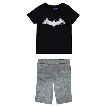 Pyjama court en jersey print BATMAN