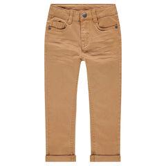 cb047f8c733b0 Pantalon effet crinkle avec poche à inscription reliéfée