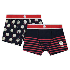 Lot de 2 boxers en coton ©Smiley