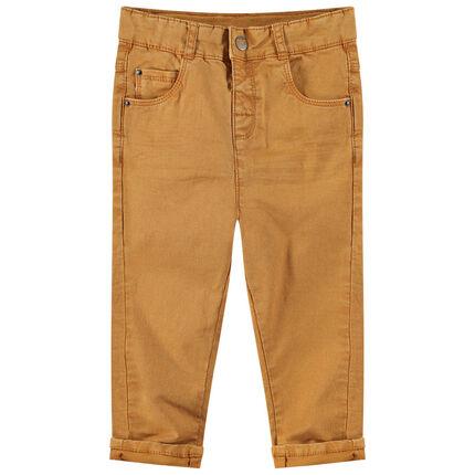 Pantalon en coton surteint avec poches