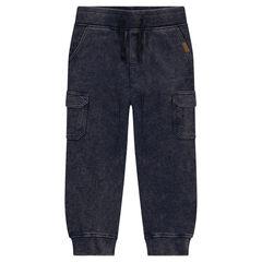 Pantalon de jogging en molleton effet neige à poches