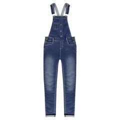 Junior - Salopette en molleton effet jeans