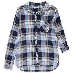 Junior - Chemise manches longues à larges carreaux avec poche