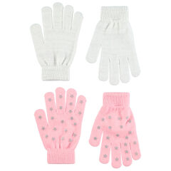 Lot de 2 paires de gants en tricot