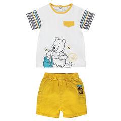 Ensemble tee-shirt et short Disney print Winnie l'ourson