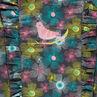 Robe manches longues imprimée fleurs all-over avec volants