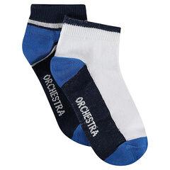 Lot de 2 paires de chaussettes courtes assorties