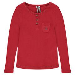 Junior - Tee-shirt manches longues à côtes
