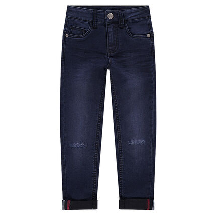 Jeans coupe skinny effet used et crinkle