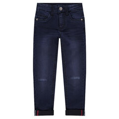 Junior - Jeans effet used et crinkle coupe skinny