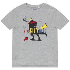 T-shirt manches courtes en coton bio à motif fantaisie