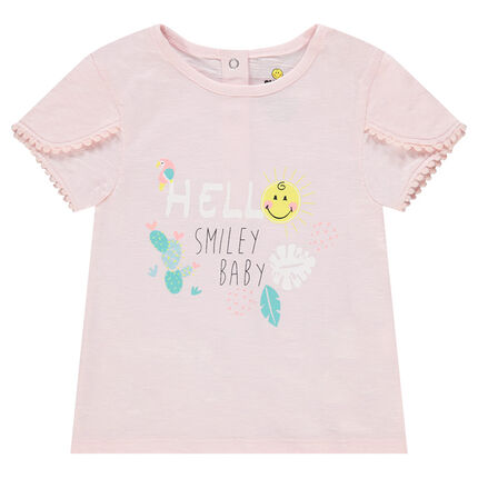 Tee-shirt en coton organique print ©Smiley