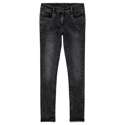 Junior - Jeans slim en molleton effet denim