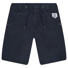 Bermuda en coton avec taille élastiquée et poches