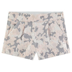 Short à motif army en jaquard all-over