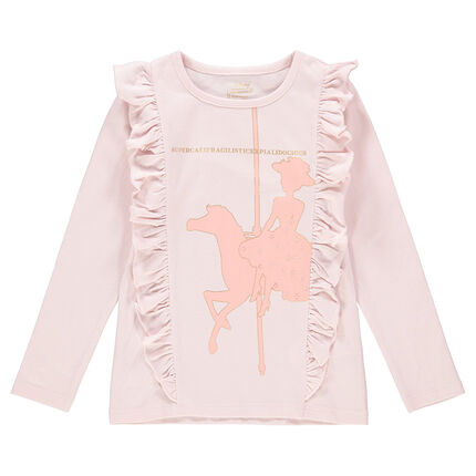 Tee-shirt manches longues en jersey volanté print Mary Poppins