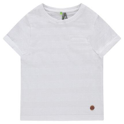 Tee-shirt manches courtes avec effet de rayures