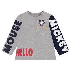 Tee-shirt manches longues en jersey avec textes printés ©Disney Mickey et poche