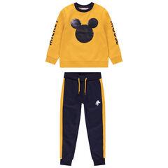 Jogging bicolore en molleton motif Mickey en sequins magiques