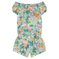 Junior - Combi-short multicolore imprimé jungle
