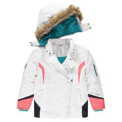 Junior - Blouson de ski avec capuche amovible et fausse fourrure